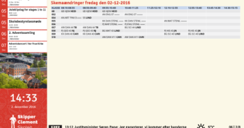 Eksempel på Screenpublisher opsætning med integration til SkoleIntra og udtræk af skemaændringer og kalender